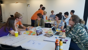 Students taking part in one of last year's Mashup events at Venture Centre.